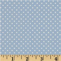 Pimatex Basics Pin Dot Pale Blue/White Fabric