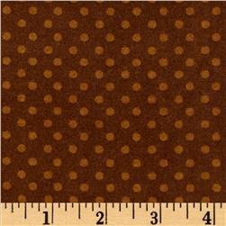 What a Hoot Flannel Dots Brown