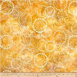 Artisan Batiks Elementals Dotted Circles Honey