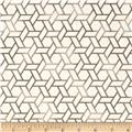 Soho Hexagon Geometric Taupe