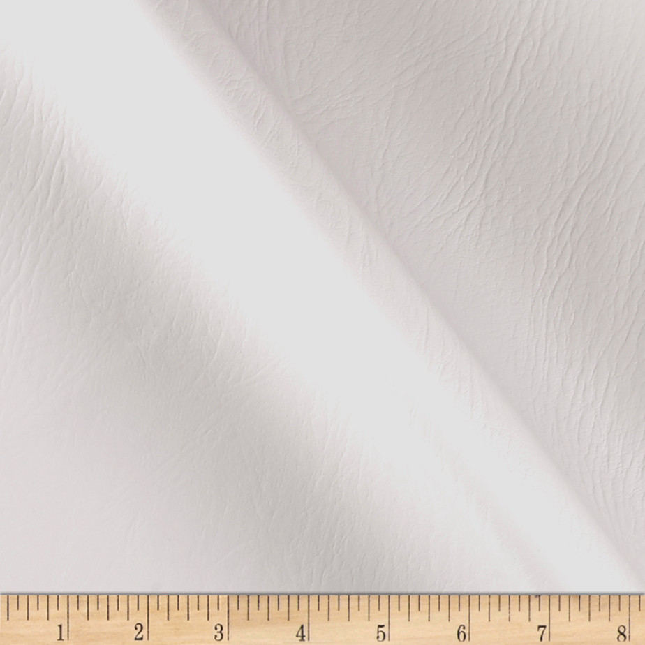 Richloom Fortress Marine Vinyl Outing White Fabric By The Yard by Richloom in USA