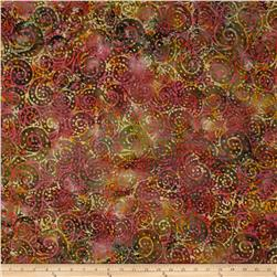 Indian Batik Gypsy Circle Scroll Brown Multi