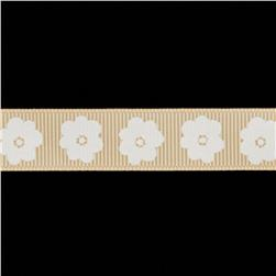 Riley Blake 5/8'' Grosgrain Ribbon Flower Cream