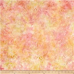 Wilmington Batiks Large Floral Pink Citrus