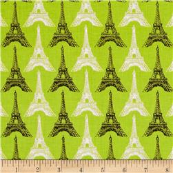Riley Blake Pepe in Paris Eiffel Tower Lime