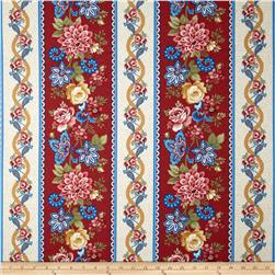 Summer Festival Large Border Stripe Red