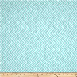 Moda Bump To Baby Chevron Robin's Egg