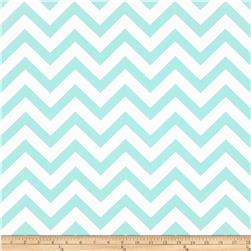 Premier Prints Zig Zag Twill Mint Fabric