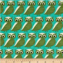 Moda S'More Love Whose Who Owls Pond Turquoise