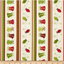 Kimberbell's Merry & Bright Fancy Stripe White Fabric