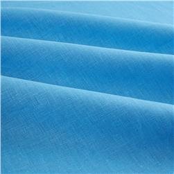 European 100% Linen Cornflower Blue Fabric