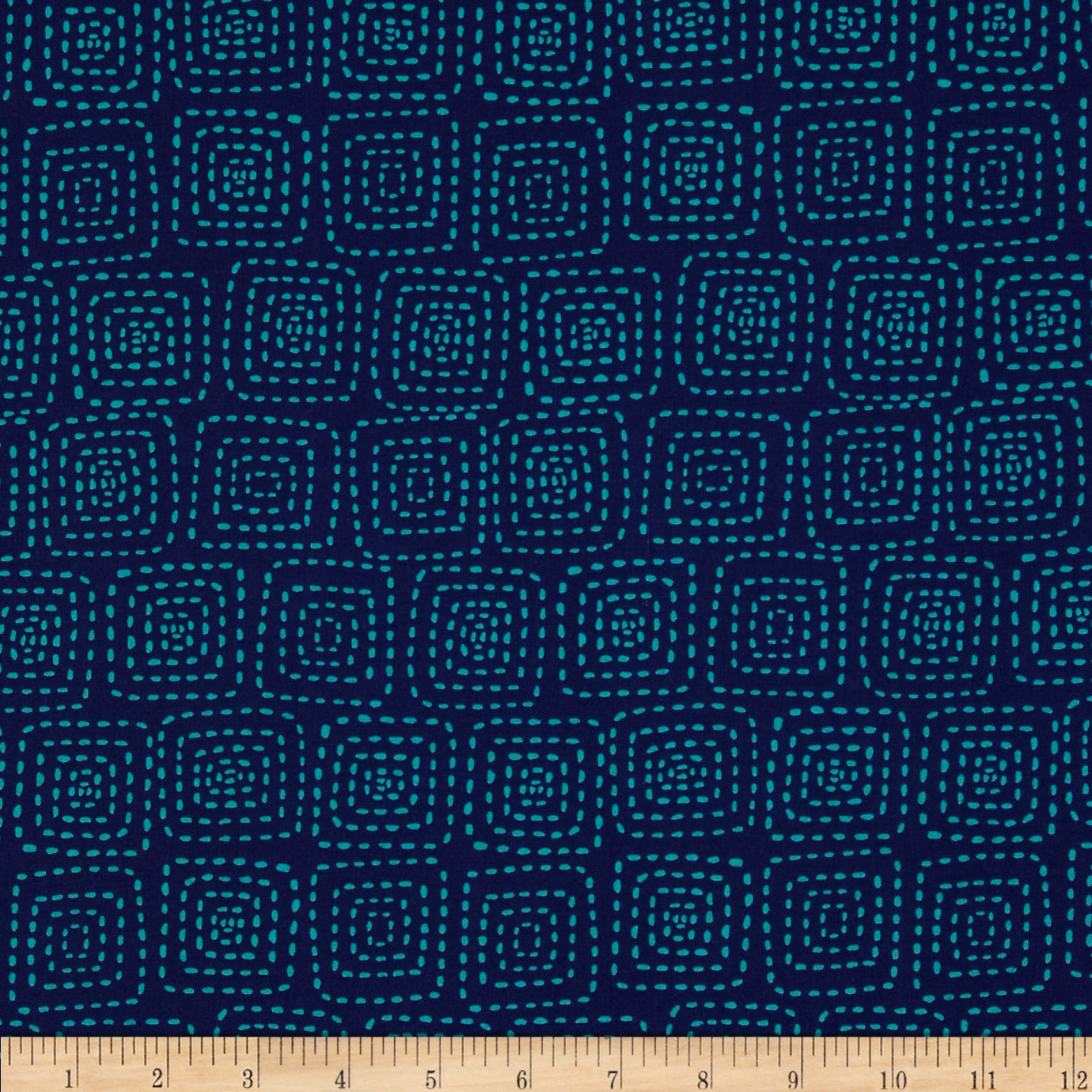 Michael Miller Stitch Square Midnite Fabric