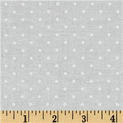 Michael Miller Pinhead Dot Snow Fabric