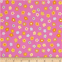 Kitschy Kawaii Mini Floral Pink/Multi Fabric