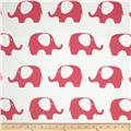 RCA Elephant Blackout Drapery Fabric Hot Pink