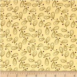 Moda Print Charming Leaves Cream/Berry