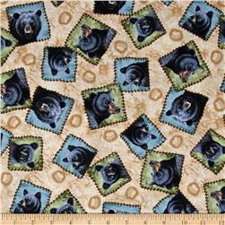 Bear Country Tossed Bear Patches Beige