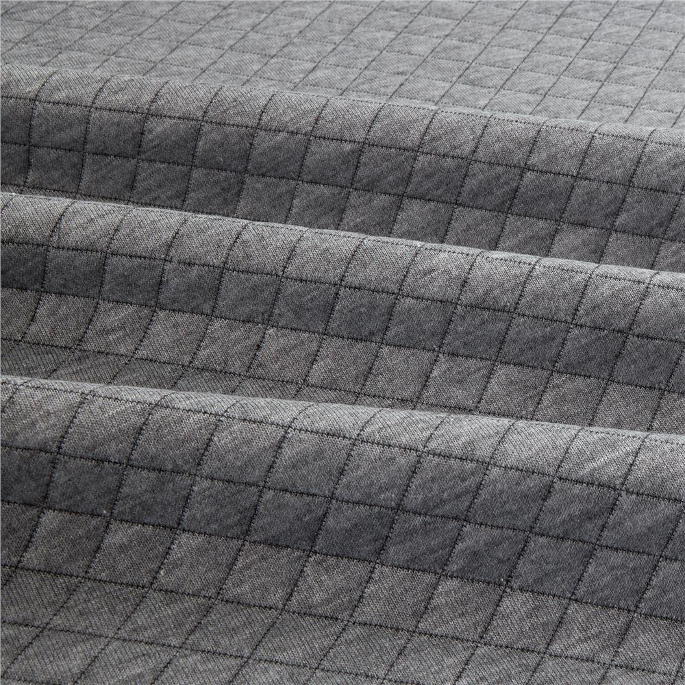 Telio cozy quilt knit grey discount designer fabric for Quilting material