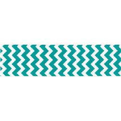 Riley Blake 7/8'' Grosgrain Ribbon Chevron Teal