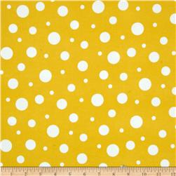 Robert Kaufman Cozy Cotton Flannel Random Dots Yellow