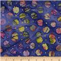 Indian Batiks Medium Dots Purple/Multi