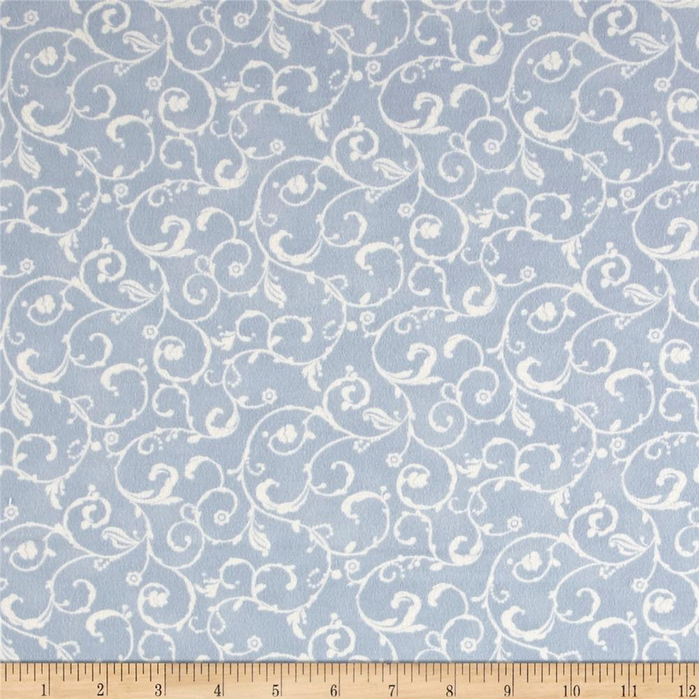 Moda Lily & Will Revisited Flannel Swirls Blue