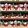 Debbie Mum Santa And Friends Repeating Stripe Multi