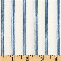 Normandy Court Ticking Stripe White/Blue