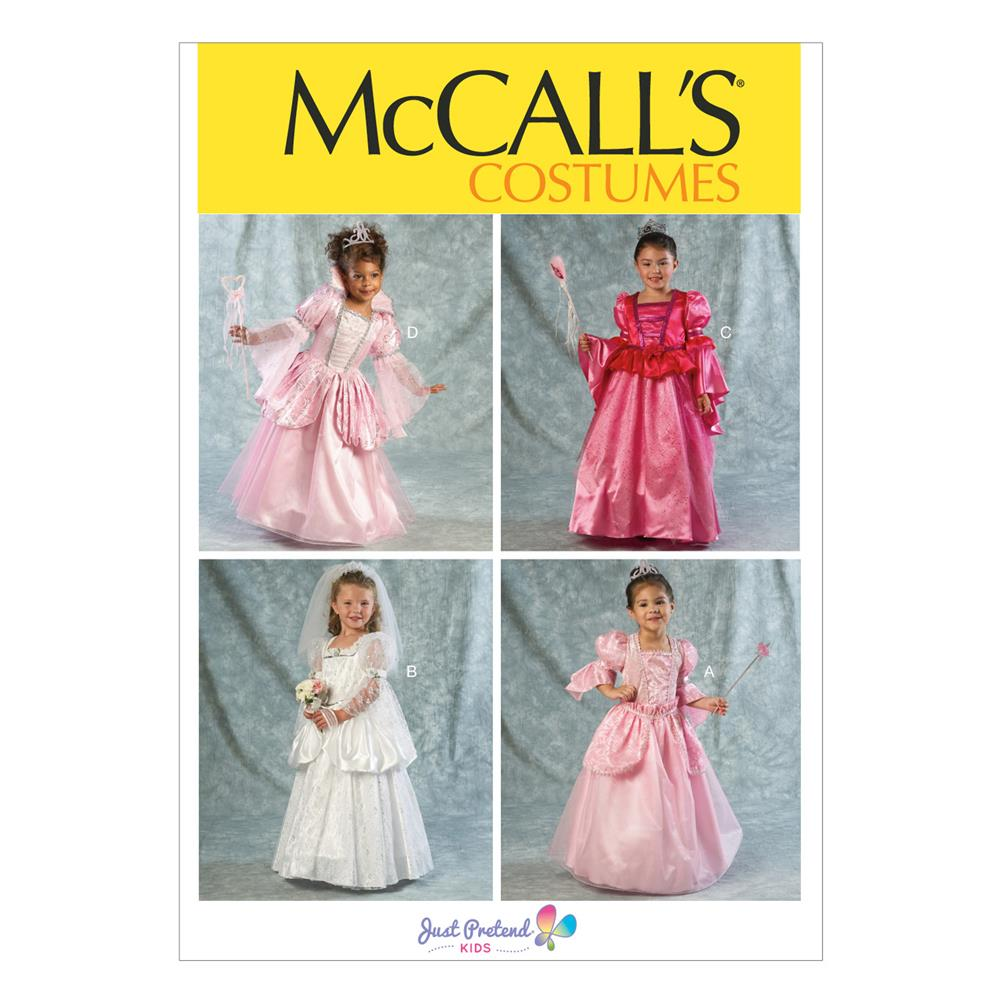 McCall's Children's/Girls' Costumes Pattern M6897 Size CDD