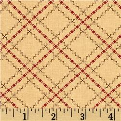 Moda Sweet Pea Zig Zag Plaid Tan