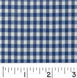 Wide Width 1/8 Gingham Check Navy