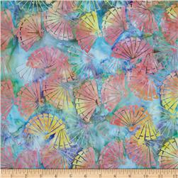 Island Batik Sixteen Candles Fans Turquoise/Yellow