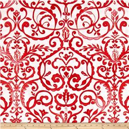 Merry Mistletoe Scrollwork Red