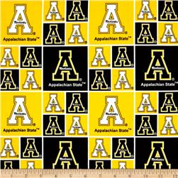 Collegiate Cotton Broadcloth Appalachian State University Yellow