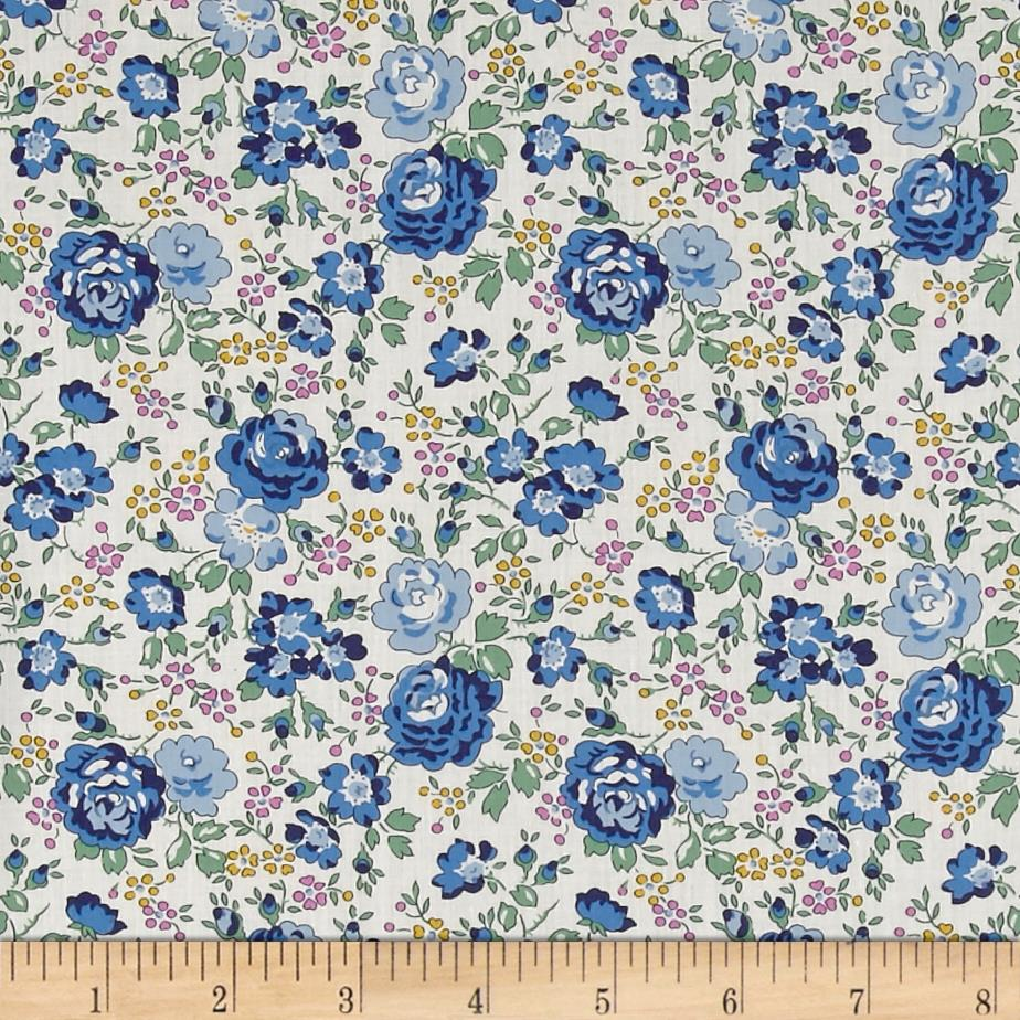 Liberty of London Classic Tana Lawn Felicite Roses Blue/White