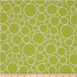 "108""  Wide Spot On Wide Quilt Backing Circles Chartreuse"