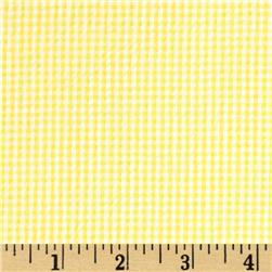 Cotton Seersucker Check Yellow/White