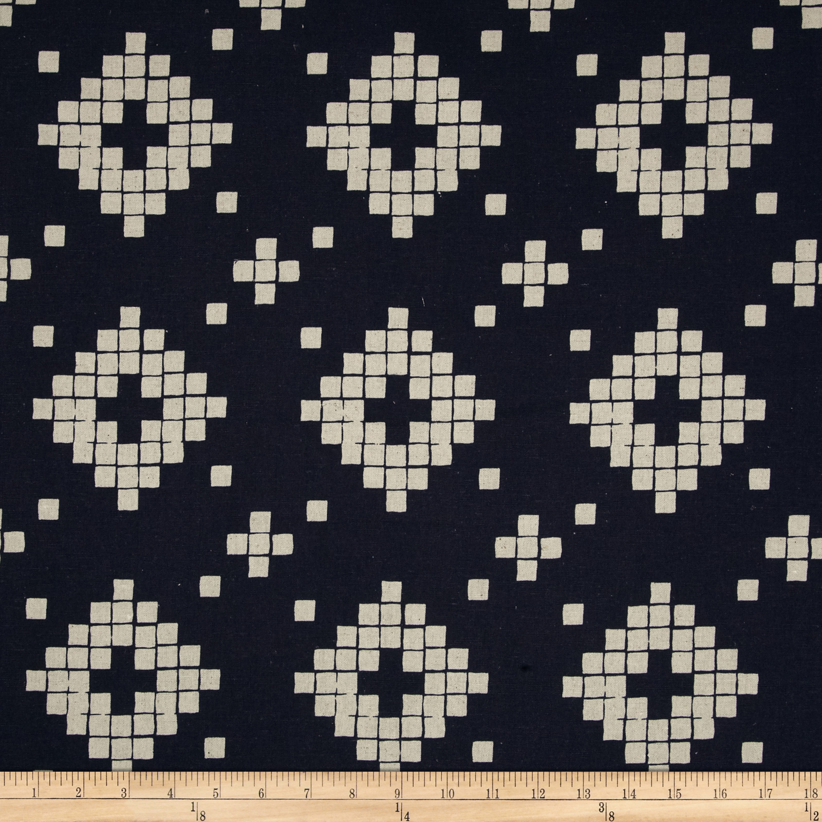 Image of Cotton + Steel Mesa Canvas Tile Navy Fabric