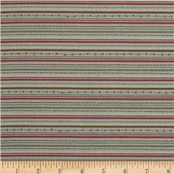 Winter Village Stripe Olive