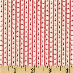 Homeschool Petite Stripe White/Red Fabric