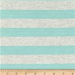 Jersey Knit Stripe Powder Blue/Oat