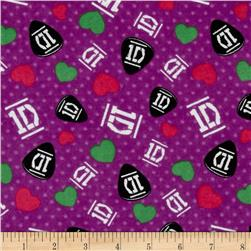 1D Guitar Picks Dots Light Purple