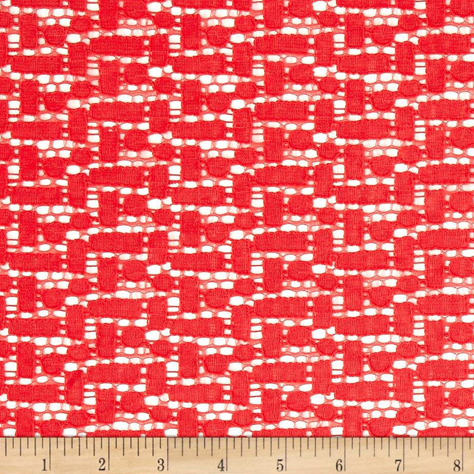 Crochet Lace Red Fabric
