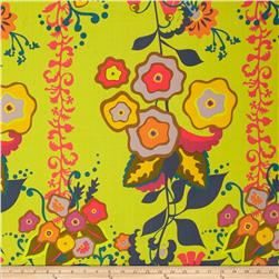 Field Day Large Floral Stripe Lime