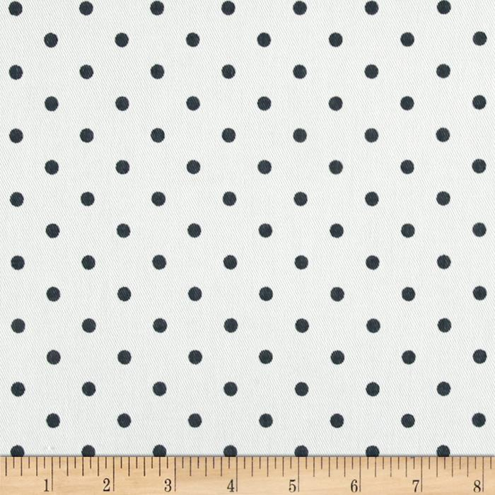 Premier Prints Mini Dots Twill White/Gunmetal