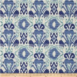 Tempo Indoor/Outdoor Ikat Blue/Aqua Fabric