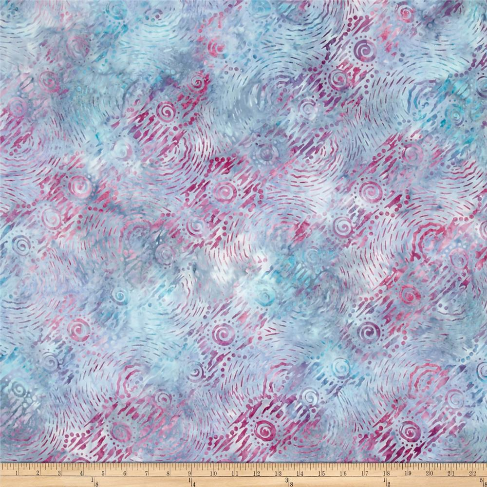 Wilmington Batik Dynamic Circles  Dusty Blue