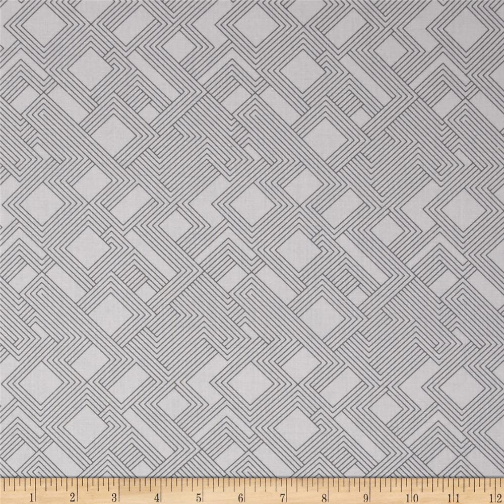 Kaufman Fragmental Gridwork Ash