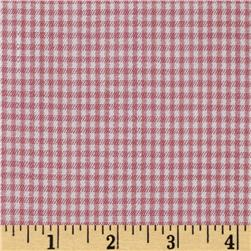 Stretch Cotton Blend Shirting Textured Stripes Raspberry