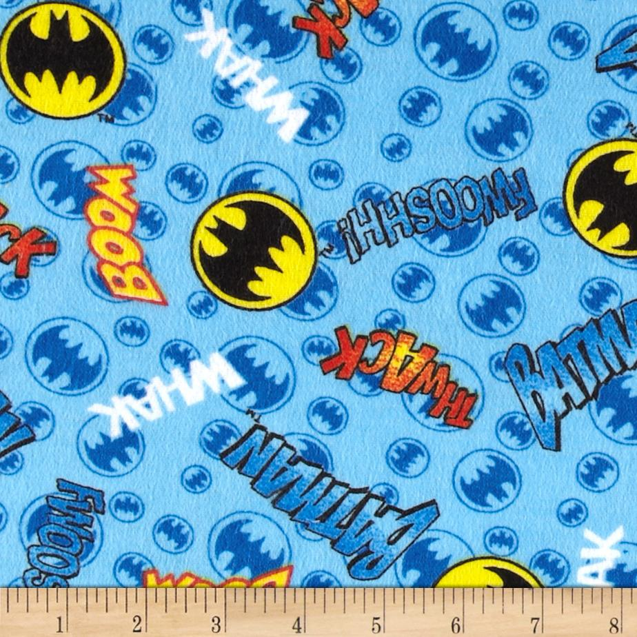 DC Comics Flannel Batman Words & Signs Blue